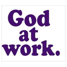 GOD AT WORK Poster