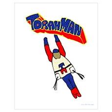 Jewish Torah Man Super Jew Poster