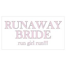 Runaway Bride Run Girl Run Poster