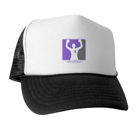 Male Hodgkin Disease Survivor Trucker Hat