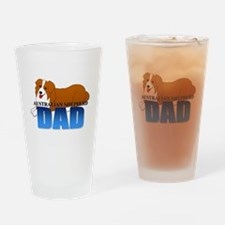 Australian Shepherd Dad Drinking Glass