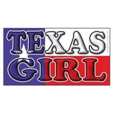 Texas Girl with Flag Canvas Art