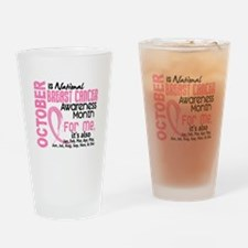 Breast Cancer Awareness Month Drinking Glass