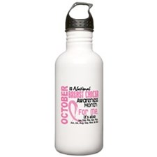 Breast Cancer Awareness Month Water Bottle