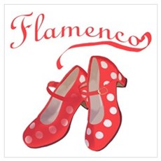 Red Flamenco Shoes Poster
