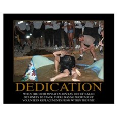 Dedication Motivational Framed Print