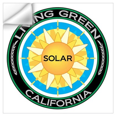 Living Green California Solar Energy Wall Decal