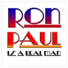 Ron Paul is a real man Framed Print
