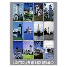 Lighthouses of Lake Ontario Poster