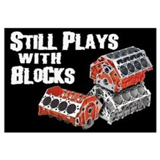 Still Plays With Blocks Canvas Art