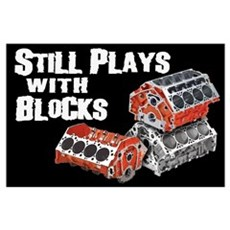 Still Plays With Blocks Poster