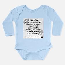 Carter God Quote Long Sleeve Infant Bodysuit