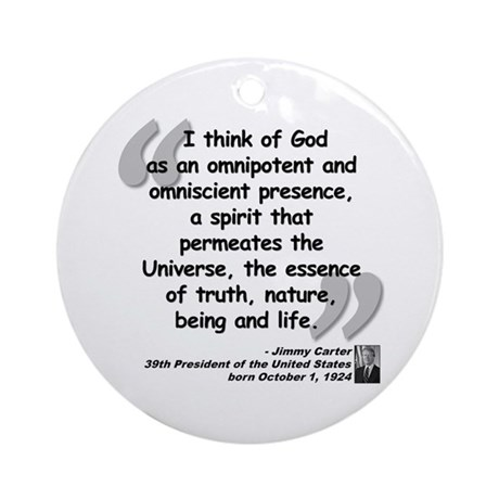 Carter God Quote Ornament (Round)