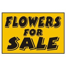 Flowers Sale Poster