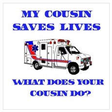 Ambulance Saves Lives-Cousin Framed Print
