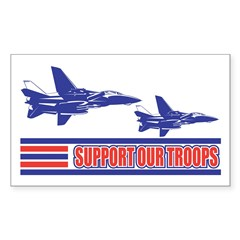 Support our Troops - Air Forc Sticker (Rectangular