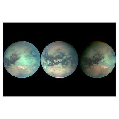 3 Views of Titan Print Poster