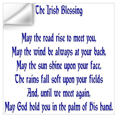 The Irish Blessing Wall Decal