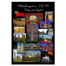 DC City of Sights Framed Print