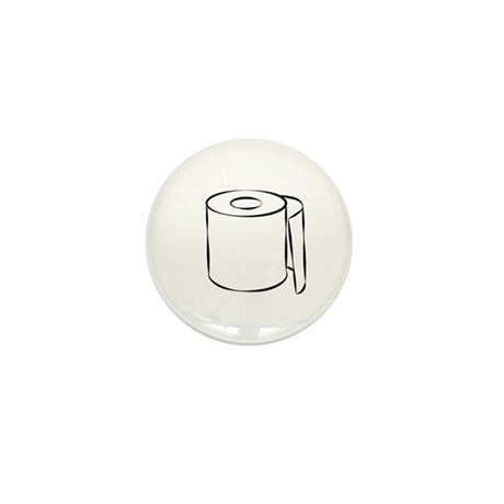 Toilet Paper Mini Button (10 pack)