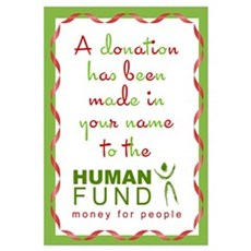 Human Fund Donation Framed Print