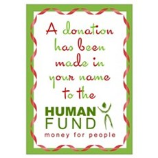 Human Fund Donation Poster