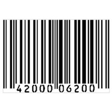 Bar Code Framed Print