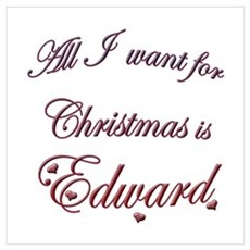 Edward for Christmas Poster