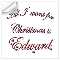 Edward for Christmas Wall Decal