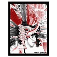 Aztec Eagle Warrior Poster