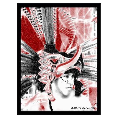 Aztec Eagle Warrior Poster