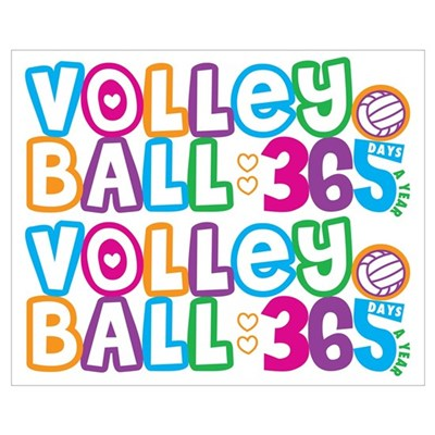 365 Volleyball Poster