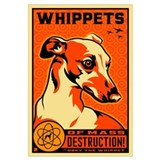 Whippet Wrapped Canvas Art