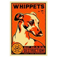 WHIPPETS WMD Atomic Dog Canvas Art