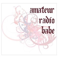 Amateur Radio Babe Canvas Art