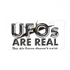 UFOs Aluminum License Plate