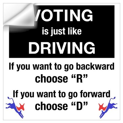 Voting/Driving Wall Decal