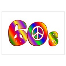 60s PEACE SIGN Poster