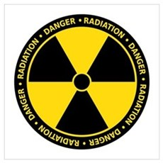 Yellow Radiation Symbol Poster