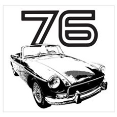 1976 MG Midget Poster