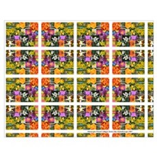 Colorful Floral Collage -Kaleidoscope Poster
