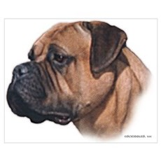 Bullmastiff Mosaic-look Poster