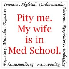 Pity me-Med...wife Canvas Art
