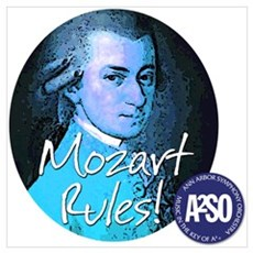 Ann Arbor Symphony Large Mozart Rules! Poster