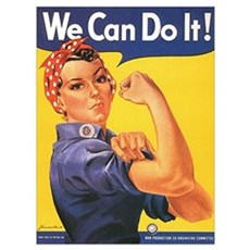 Women We Can Do It! Framed Print