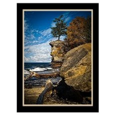 Chapel Rock - Pictured Rocks Poster
