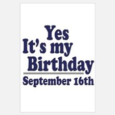 September 16th Birthday