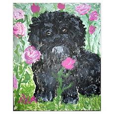 """, """"Dog Amongst Roses"""" Poster"""