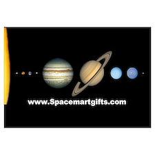 Scale Solar System Mini Astronomy Print