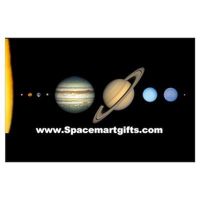 Scale Solar System Mini Astronomy Print Poster
